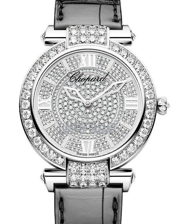 Chopard Imperiale - Round 40mm in White Gold  with Diamond Bezel