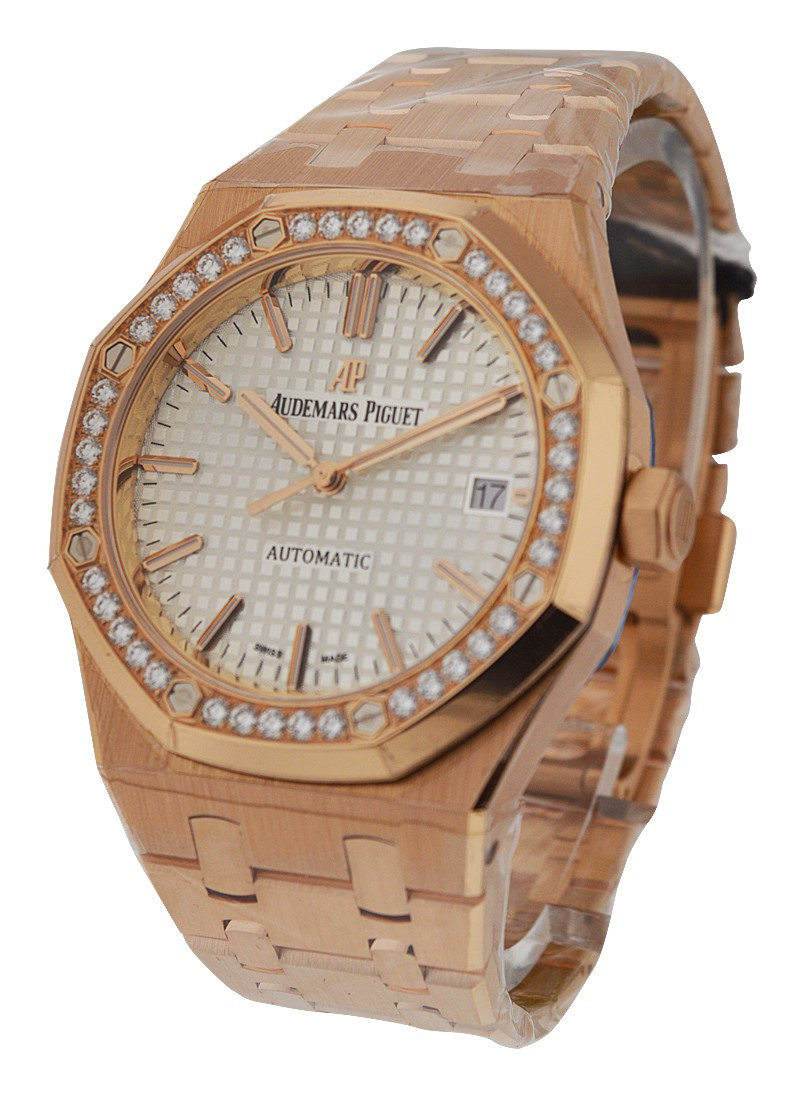 Audemars Piguet Royal Oak Ladys Automatic in Rose Gold with Diamond Bezel