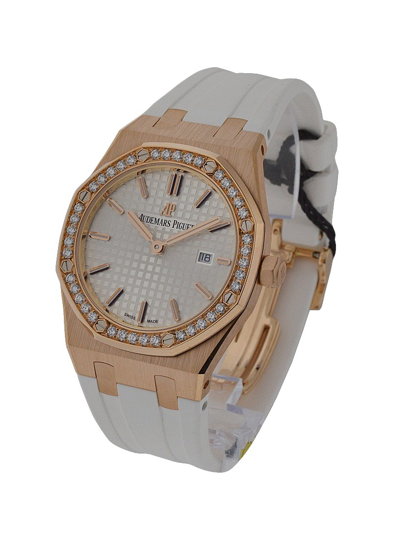 Audemars Piguet Royal Oak Lady's Quartz in Rose Gold with Diamond Bezel