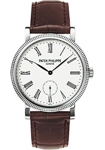 Patek Philippe Calatrava Ref 7119G 012 in White Gold with Hobnail Bezel