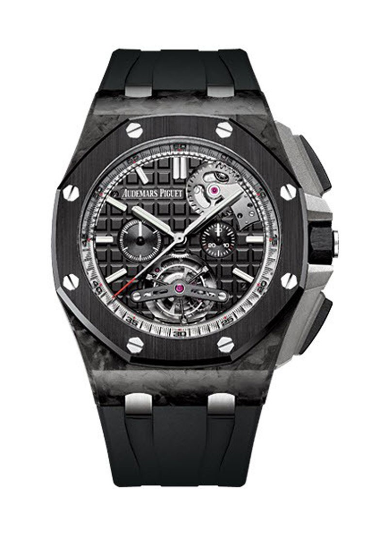 26550au oo audemars piguet royal oak offshore tourbillon carbon essential watches for Royal oak offshore ceramic