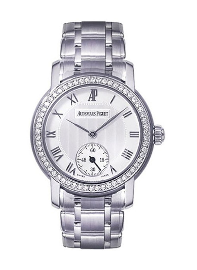 Audemars Piguet Jules Audemars Small Seconds in White Gold Diamond Bezel
