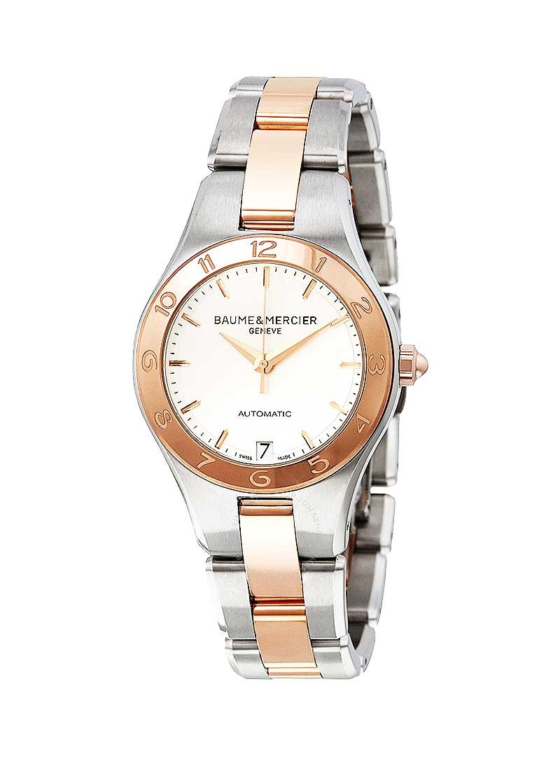 Baume & Mercier Linea Automatic in Steel with Rose Gold Bezel
