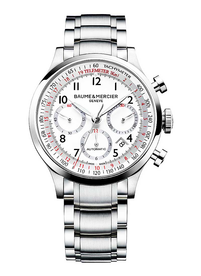 Baume & Mercier Capeland Chronograph 42mm Automatic in Steel
