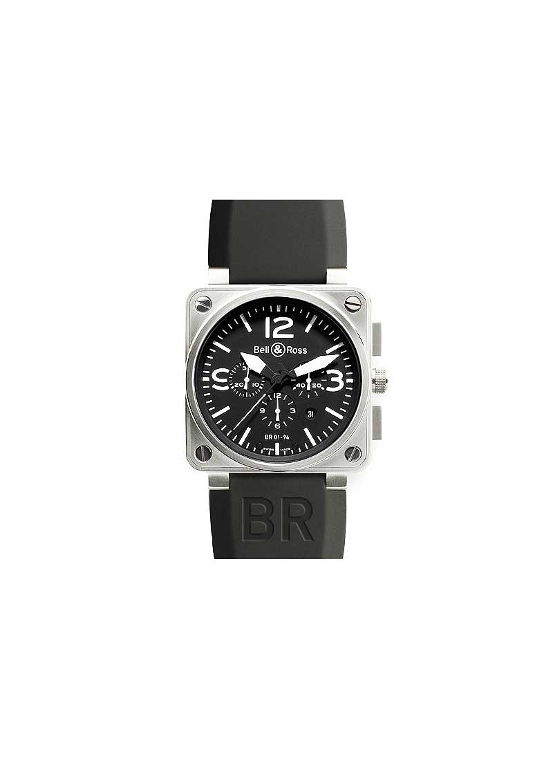 Bell & Ross BR 01 94 Pilot Chronograph in Steel