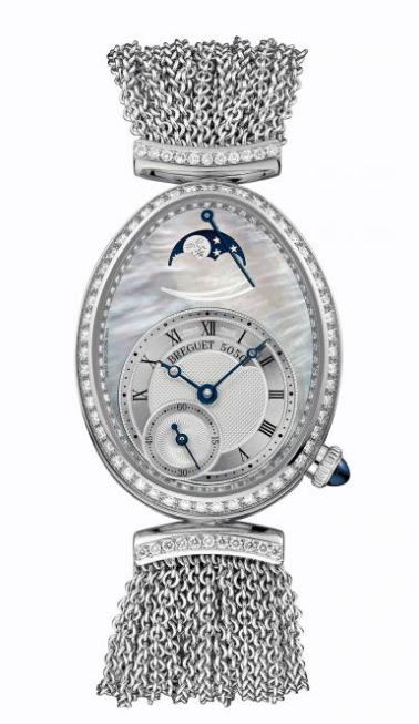 Breguet Reine de Naples in White Gold with Diamond Bezel