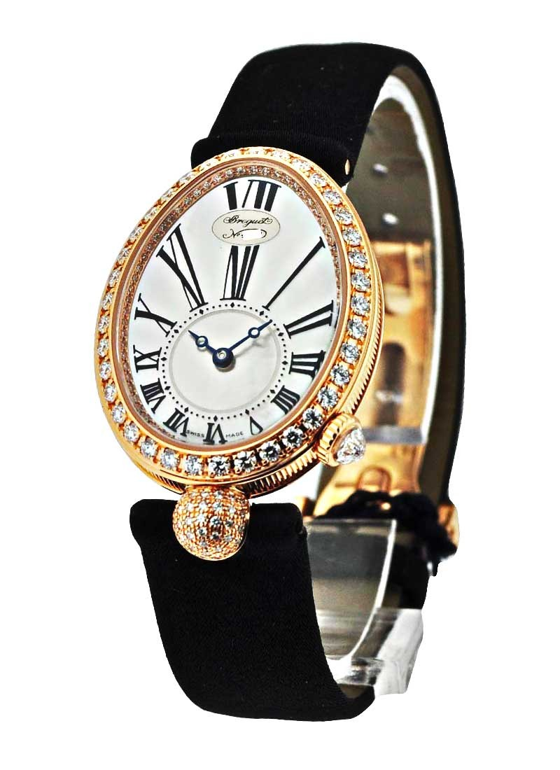 Breguet Reine de Naples in Rose Gold with Diamond Bezel