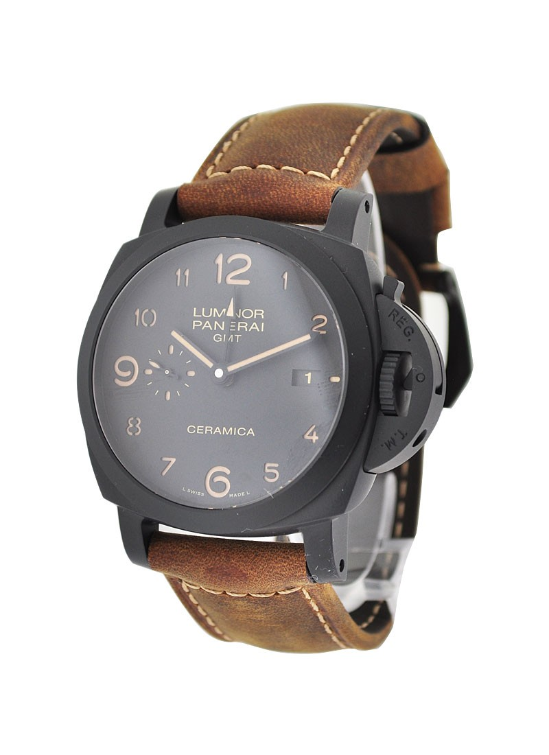 Panerai PAM 441 - Luminor Ceramic 1950 3 Days GMT in Black Ceramic
