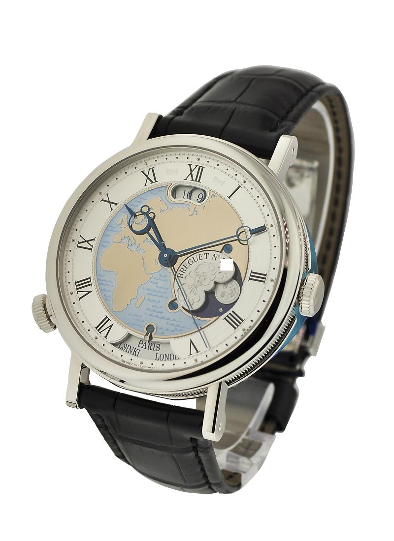 Breguet Classique Hora Mundi  Europe 44mm Automatic in Platinium