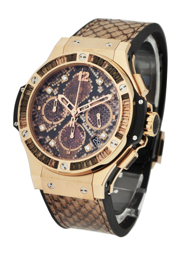 Hublot Big Bang 41mm   Rose Gold   Boa Bang Gold Brown