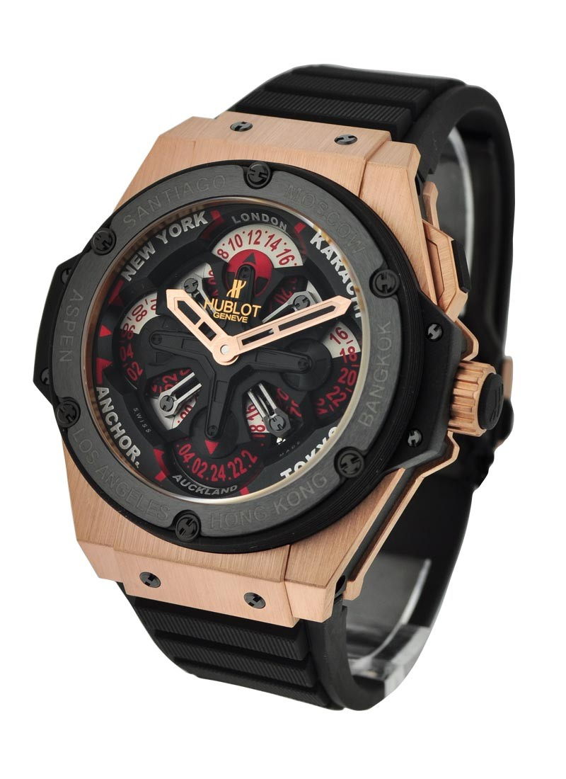 Hublot King Power Big Bang Unico GMT King Gold Ceramic