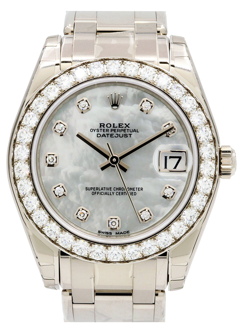Rolex Unworn Masterpiece  34mm Special Edition in White Gold with Diamond Bezel