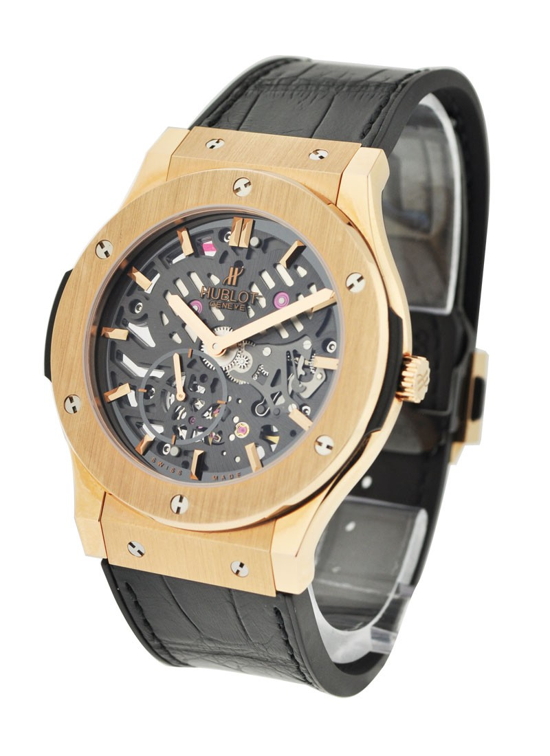 Hublot Extra-Thin Skeleton in Rose Gold