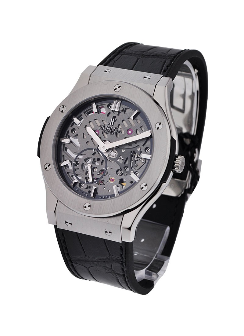 Hublot Classic Fusion Ultra Thin Skeleton in Titanium