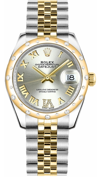 Rolex Unworn Mid Size Datejust 31mm in Yellow Gold with Domed Bezel