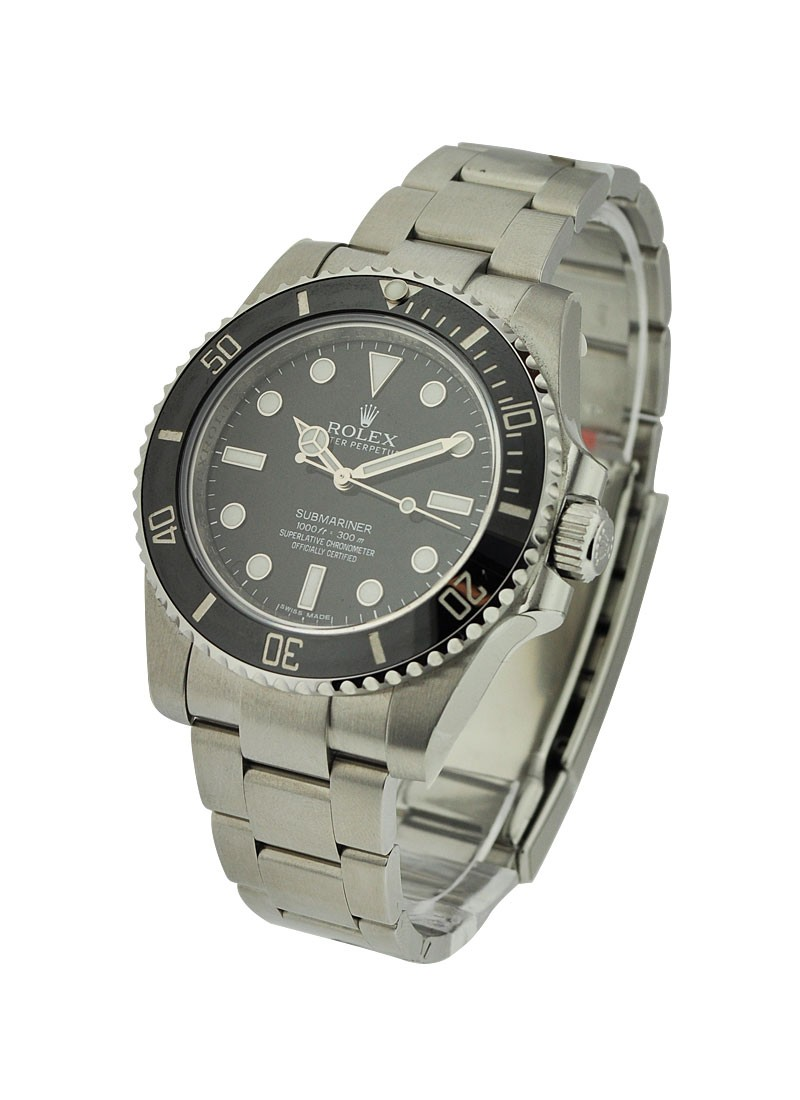 Rolex Unworn Submariner 40mm  No Date in Steel with Black Ceramic Bezel