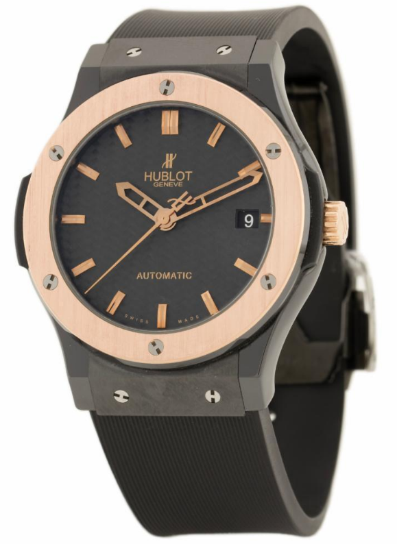 Hublot Classic Fusion Ceramic with Rose Gold Bezel