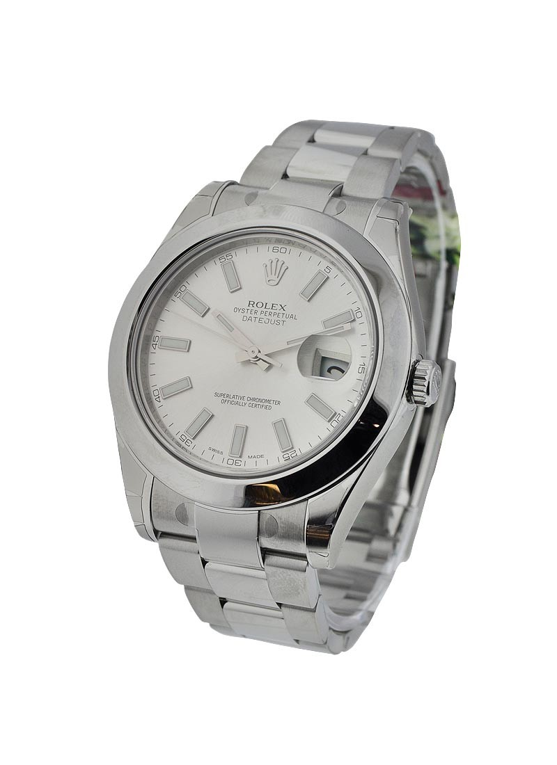 Rolex Unworn Datejust II 41mm Automatic in Steel with Smooth Bezel