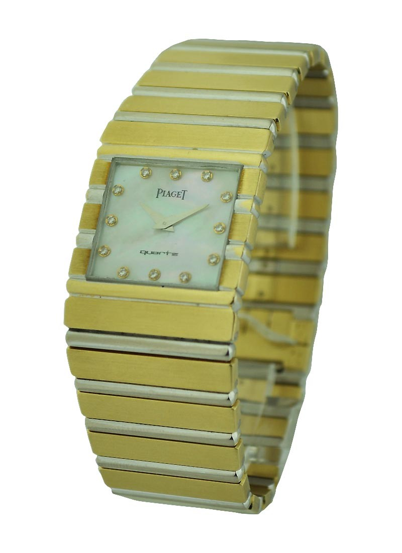 Piaget Piaget Mens Square Polo White and Yellow Gold