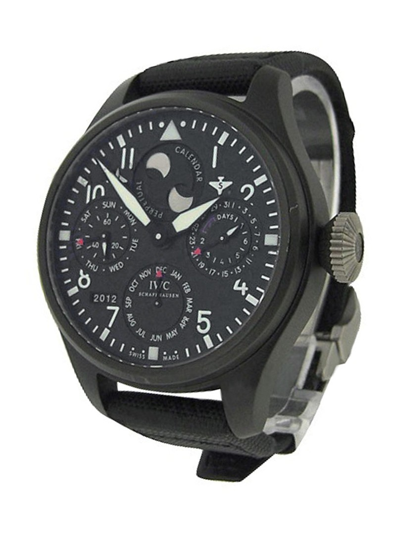 IWC Big Pilot Perpetual Calendar Top Gun 48mm in Black PVD Ceramic and Titanium