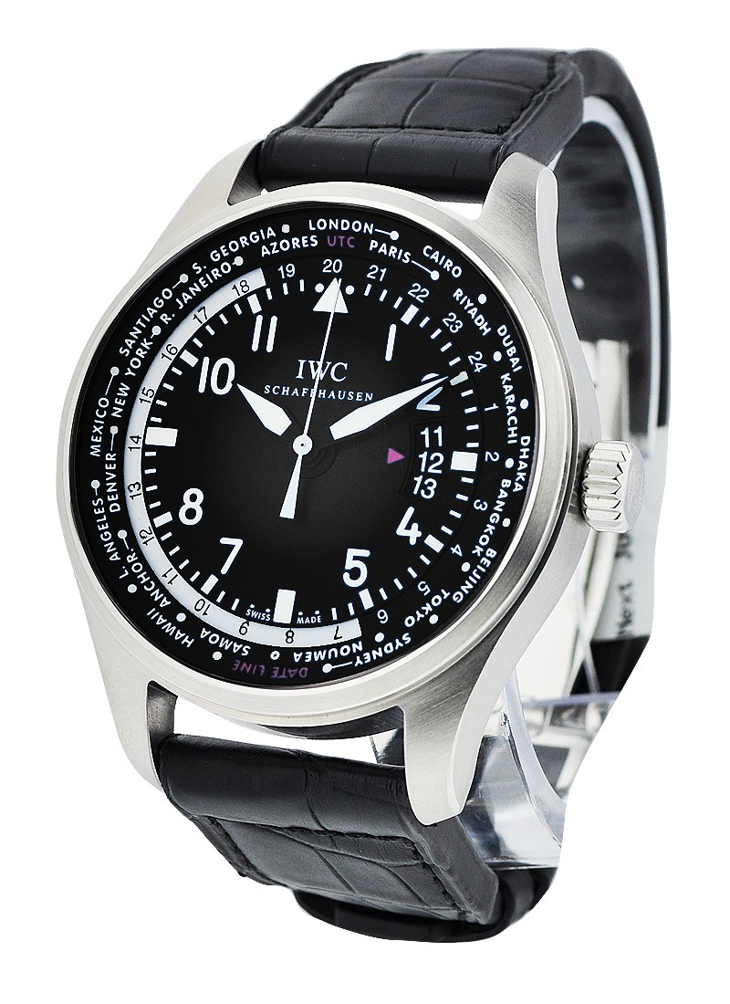 IWC Pilots Worldtimer 45mm Automatic in Steel