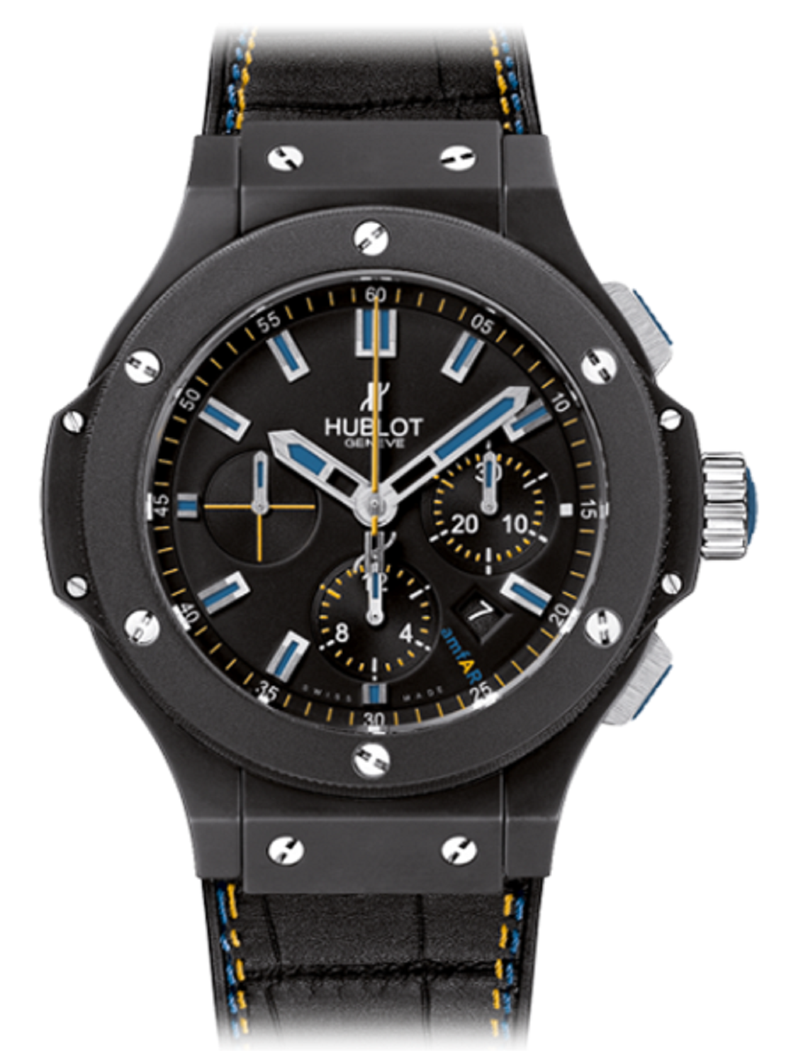 Hublot Big Bang 44mm Amfar In Black Ceramic -Limited Edition of 100 Pieces