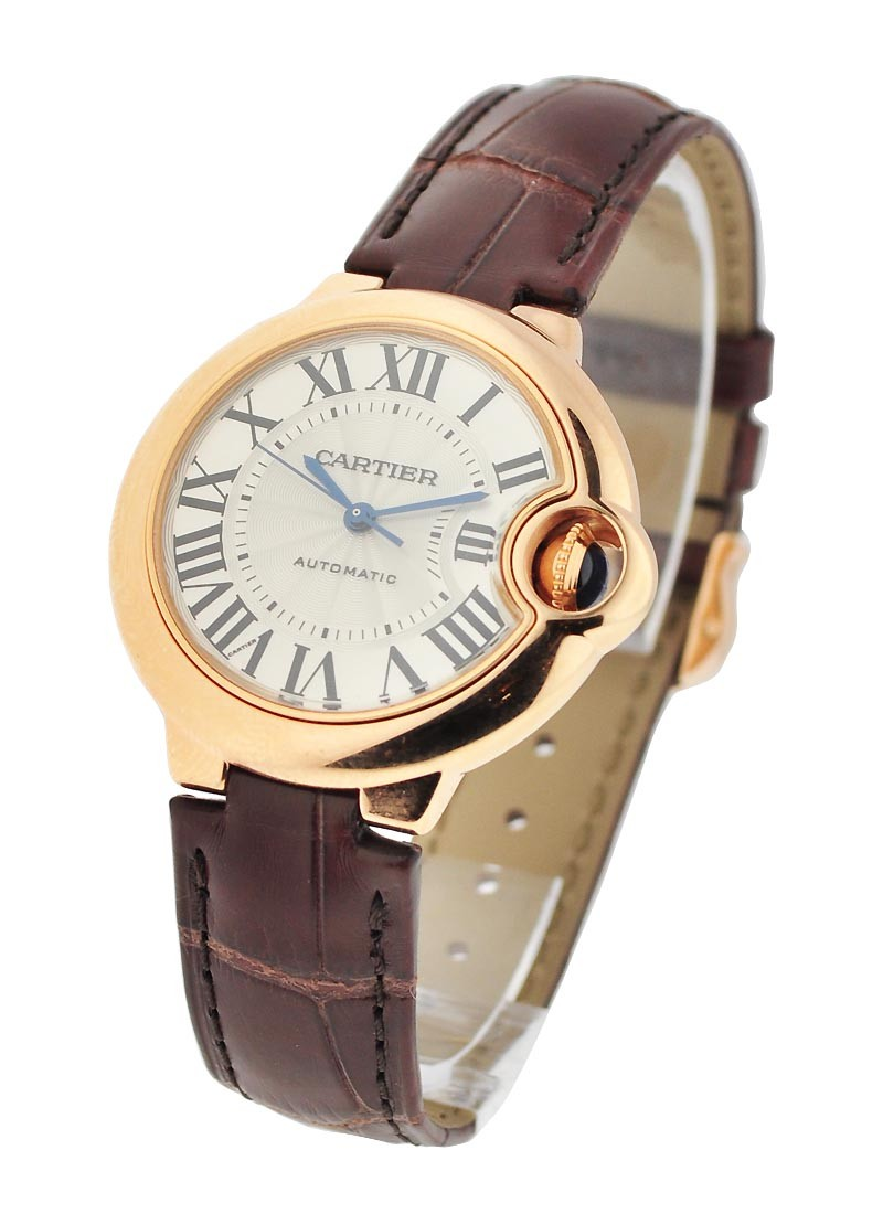Cartier Ballon Bleu 33mm Automatic in Rose Gold