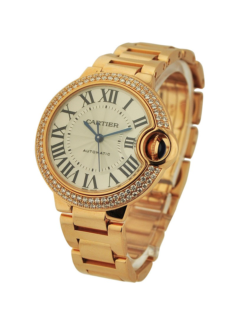 Cartier Ballon Bleu 33mm with Diamond Bezel