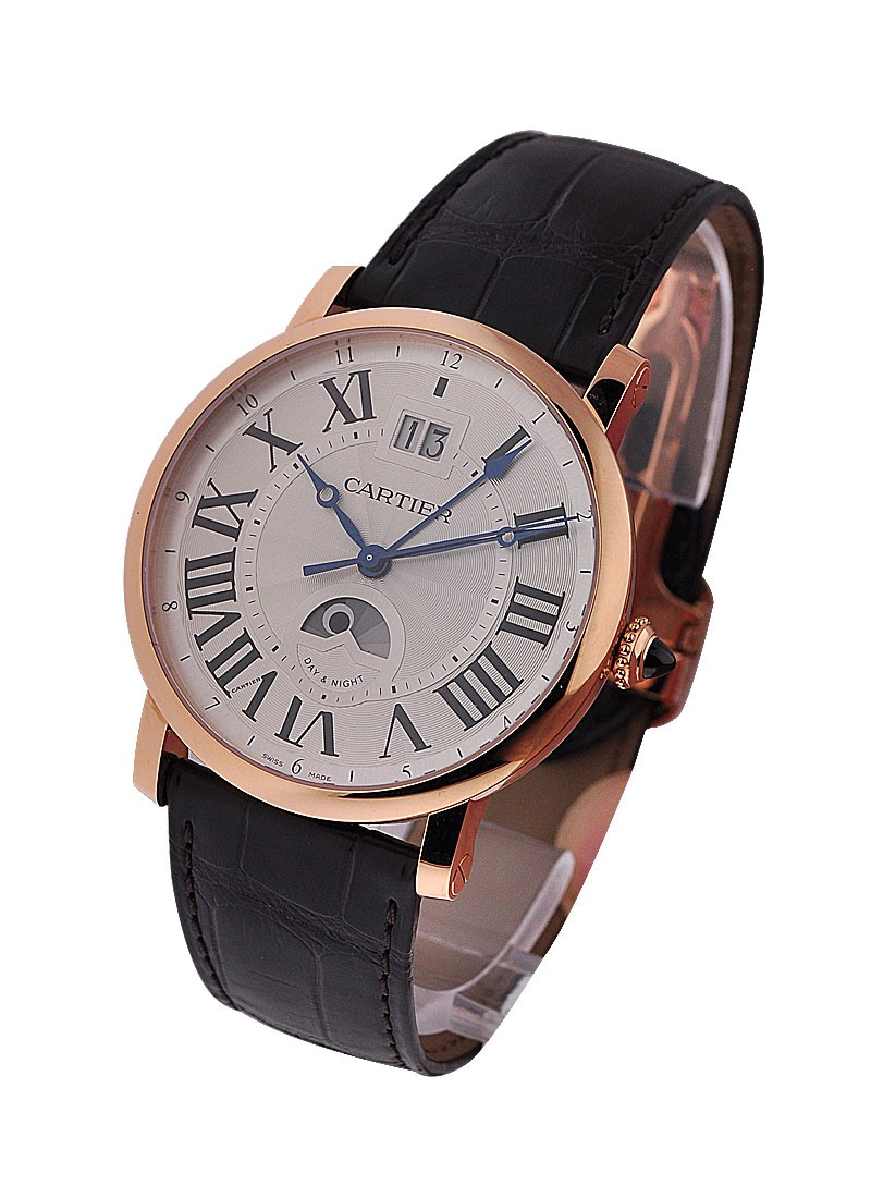 Cartier Rotonde Large Date GMT in Rose Gold