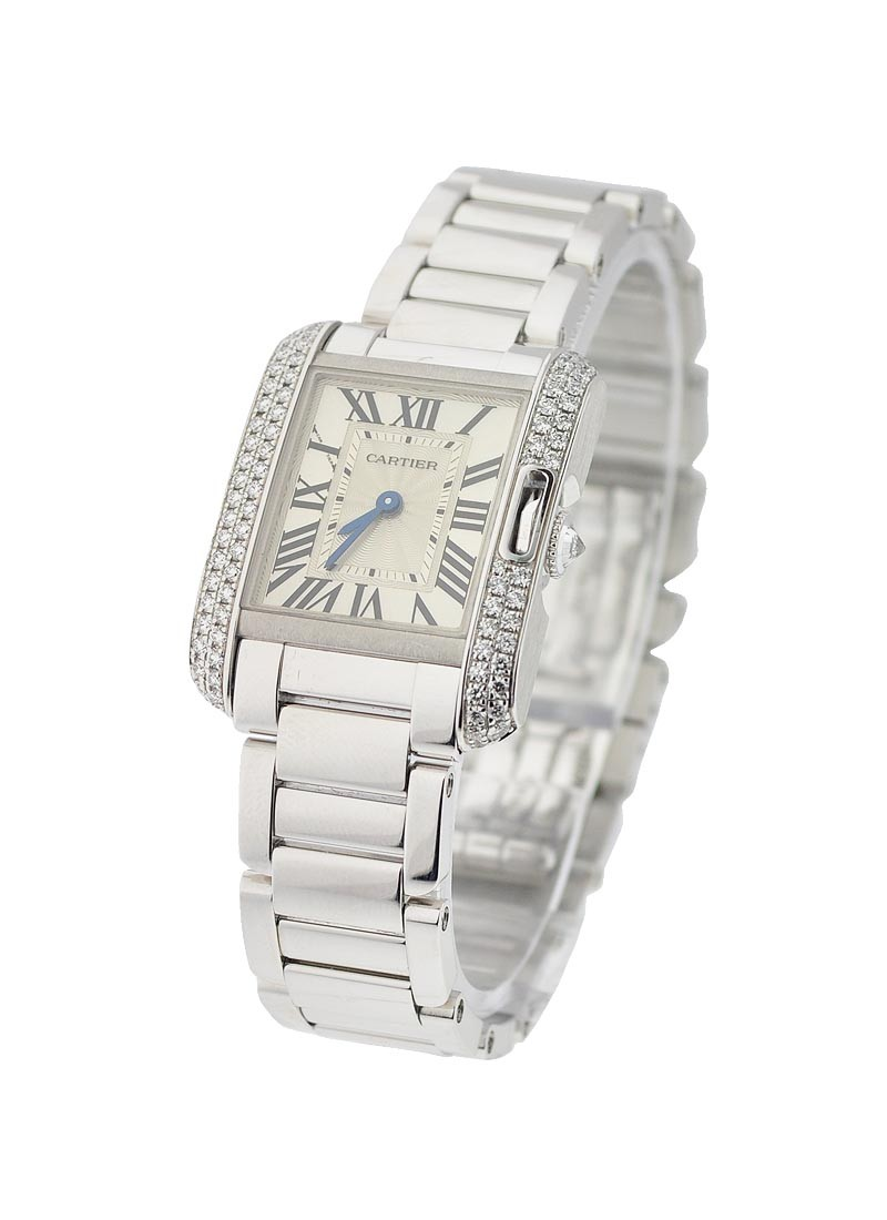 Cartier Tank Anglaise Small Model with Diamond Bezel