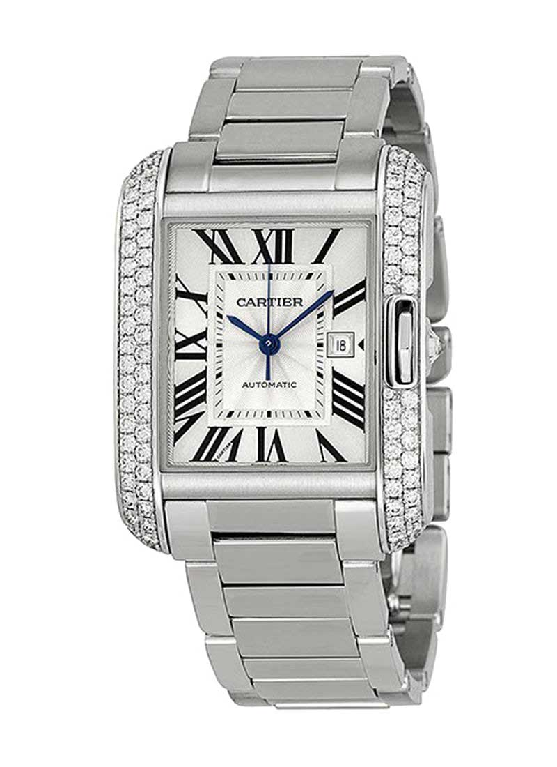Cartier Tank Anglaise - Automatic with Diamond Bezel