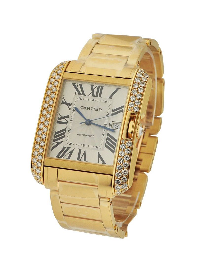 Cartier Tank Anglaise Large - Diamond Bezel