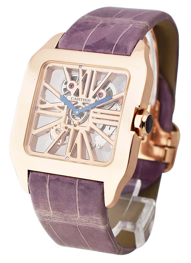 Cartier Santos Dumont Skeleton in Rose Gold