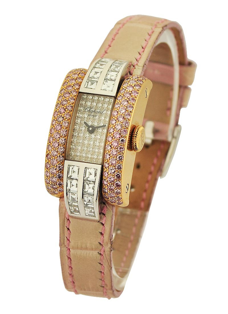 Chopard La Strada with Pink Sapphires and Square Diamonds