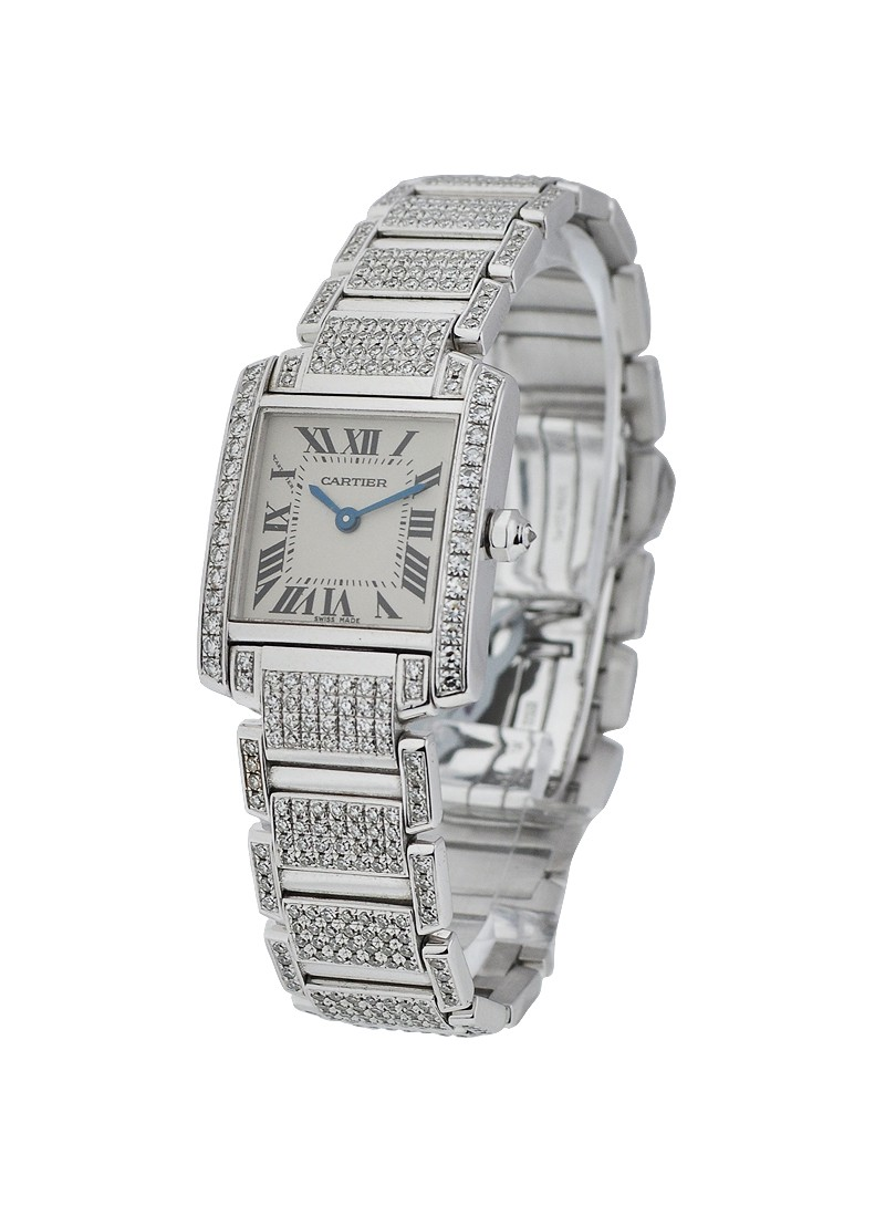 Cartier Tank Francaise Full Custom Pave Diamonds