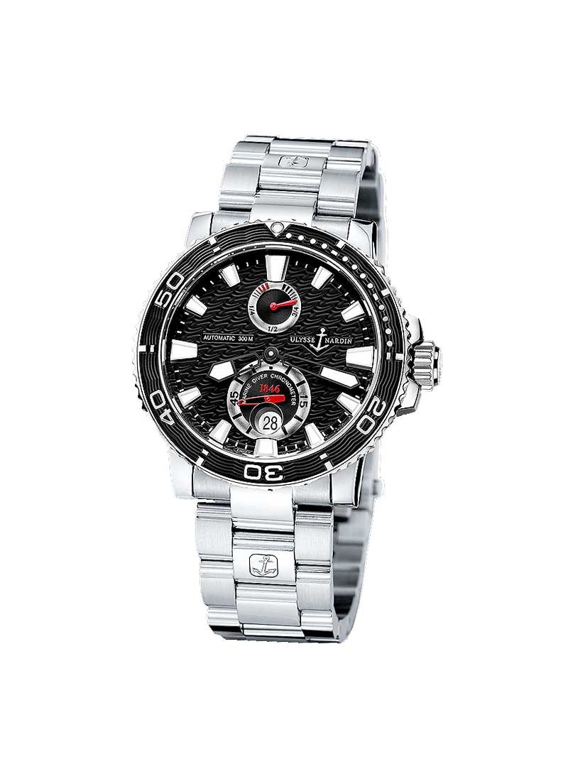 Ulysse Nardin Marine Maxi Diver in Stainless Steel with Ceramic Inserts