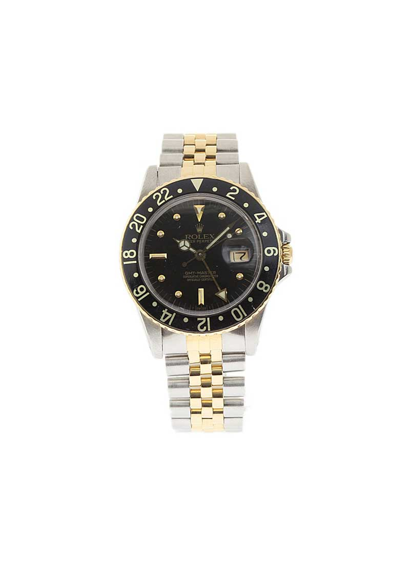 Pre-Owned Rolex GMT-Master 16753 40mm in Steel with Black Bezel