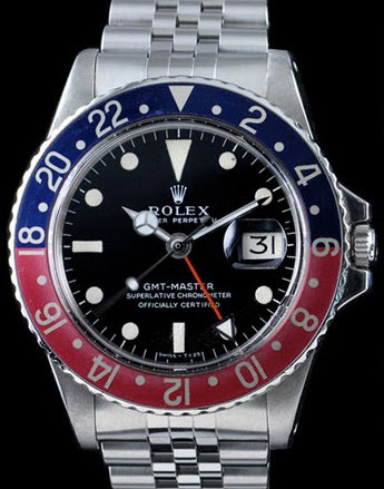 Pre-Owned Rolex GMT Master 1675 Men's in Steel with Red/Blue Bezel