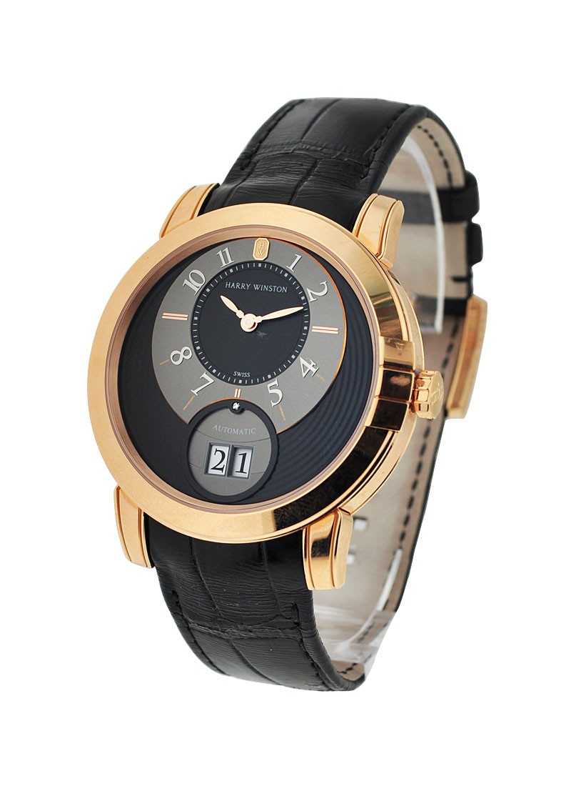 Harry Winston Midnight Big Date 42mm in Rose Gold