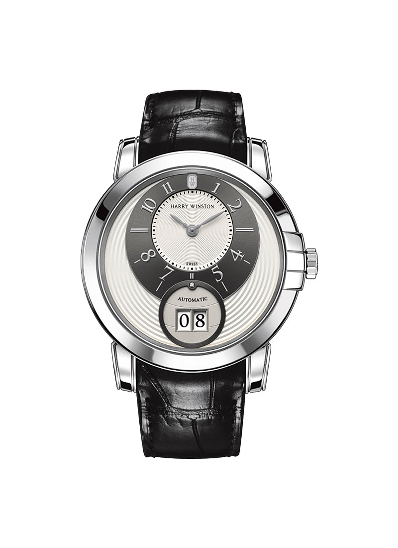 Harry Winston Midnight Big Date 42mm Automatic in White Gold