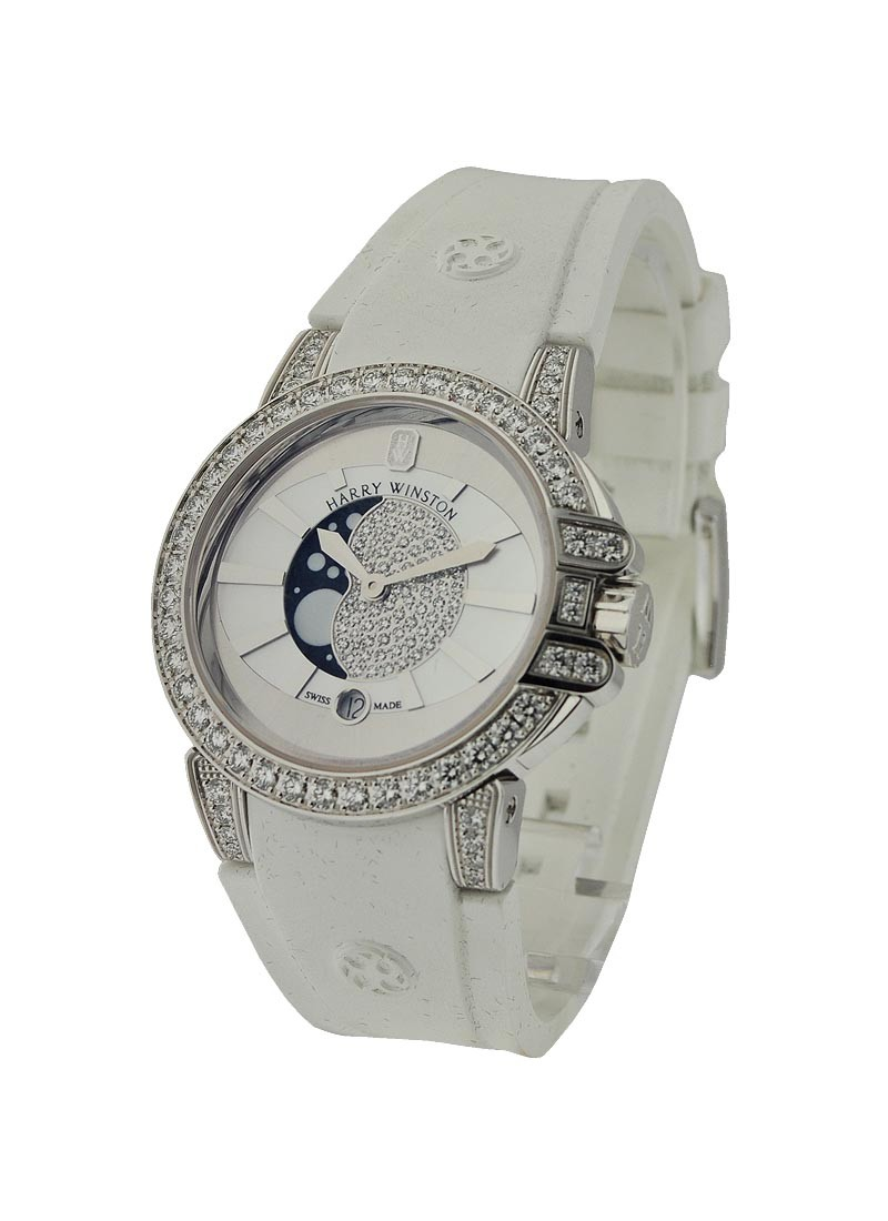 Harry Winston Ocean Moon Phase with Diamond Bezel and Lugs