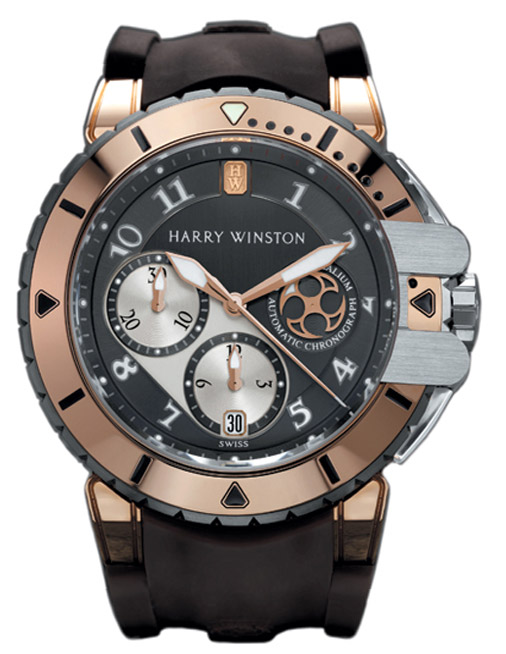 Harry Winston Ocean Diver 44mm in Zalium with Rose Gold Bezel and Lugs