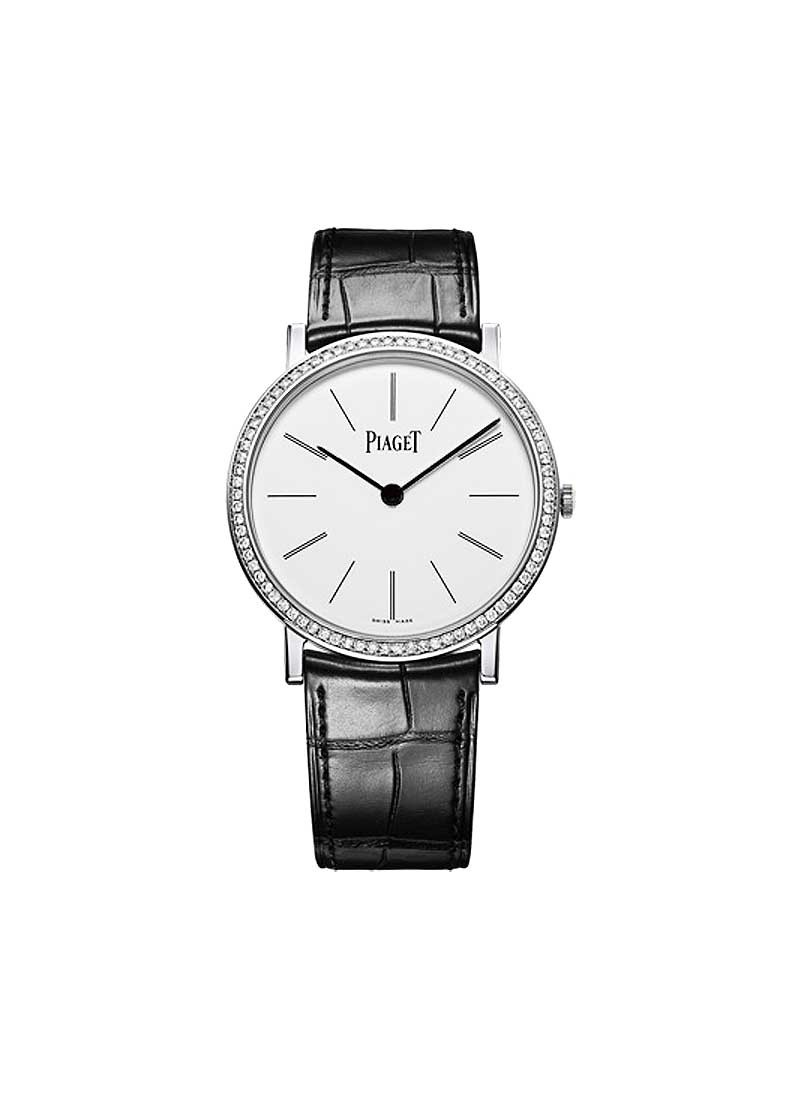 Piaget Altiplano Round in White Gold with Diamond Bezel