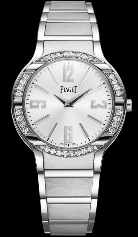 Piaget Polo Lady in White Gold With Diamond Bezel