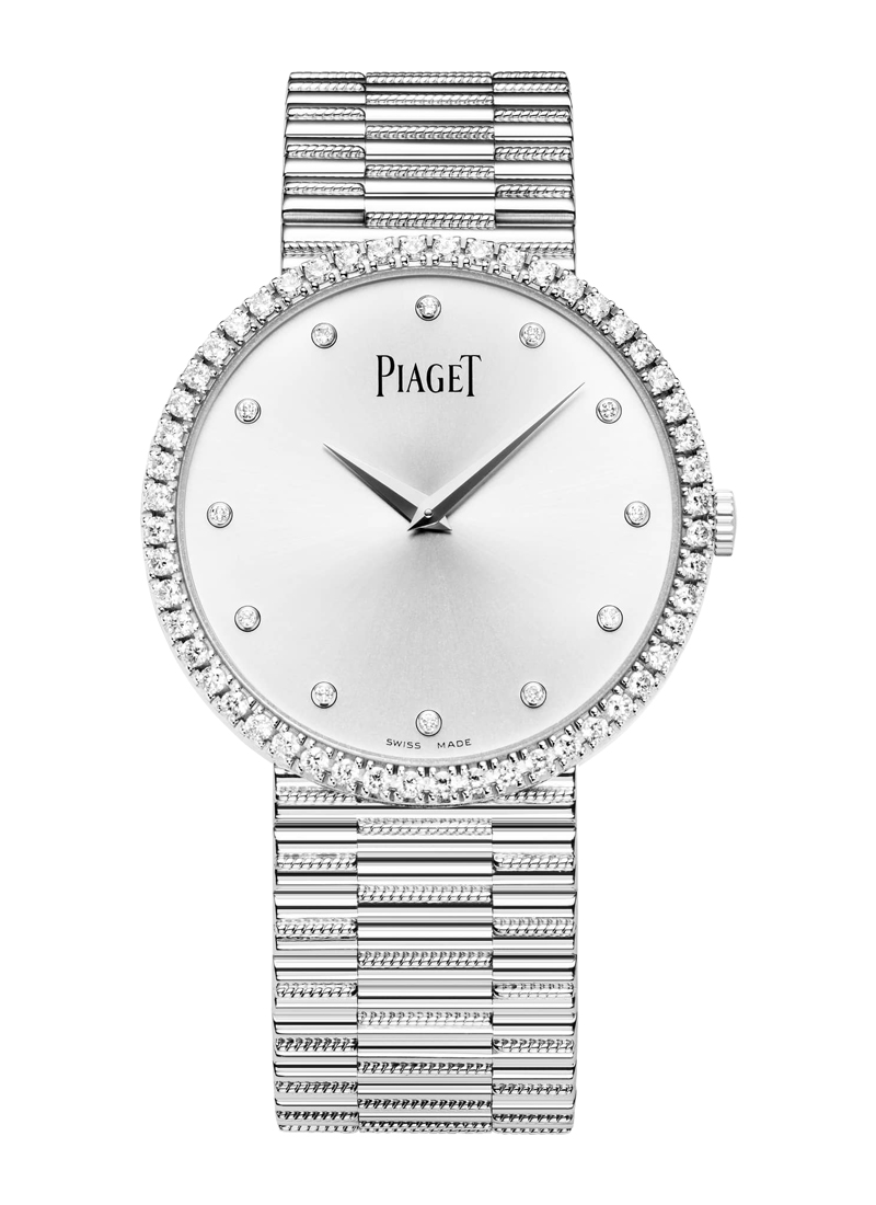 Piaget Traditional Watch in White Gold with Diamond Bezel