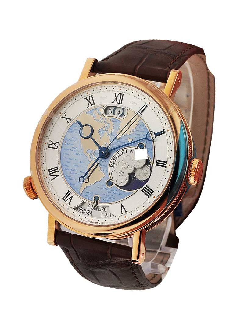 Breguet Classique Hora Mundi   US 43mm Automatic in Rose Gold