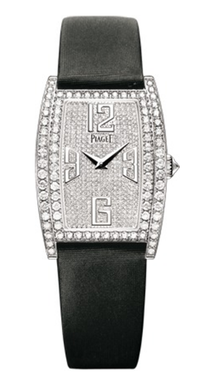 Piaget Limelight Tonneau in White Gold with Diamond Bezel