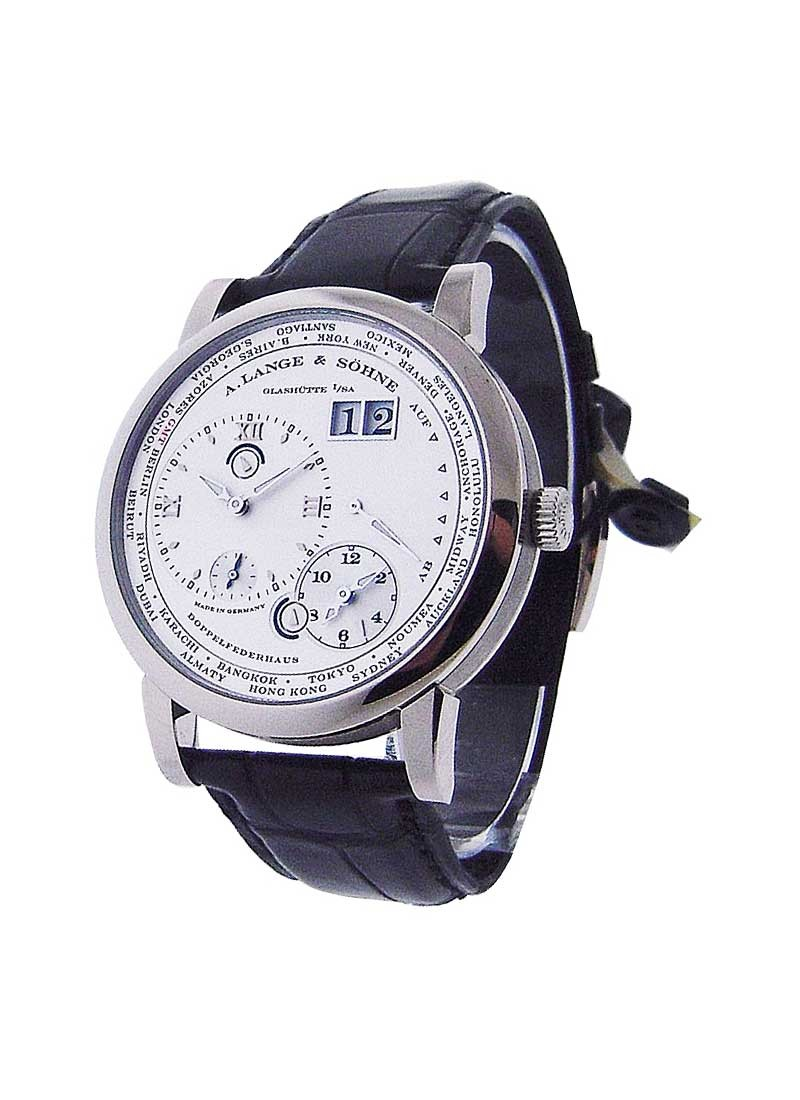 A. Lange & Sohne Lange 1 Timezone Mens Manual in White Gold