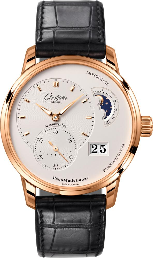 Glashutte PanoMaticLunar 42mm Automatic in Rose Gold