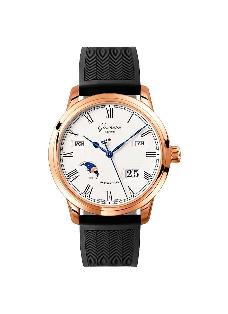 Glashutte Senator Perpetual Calendar 42mm Automatic in Rose Gold